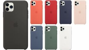 Genuine Apple iPhone 11 Pro Silicone & Clear Snap-On Case Cover - Various Colour