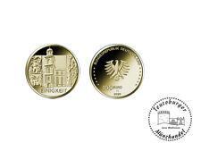 100 Euro Gold BRD Säulen der Demokratie - Einigkeit 2020 G  -1/2 oz 999 mit OVP