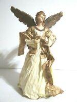 """Angel Tree Topper Paper Mache 11 1/2"""" Tall"""