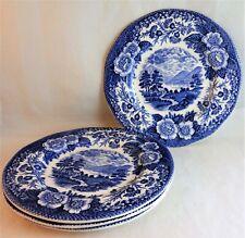 "ROYAL WARWICK Blue LOCHS OF SCOTLAND 5 7/8"" BREAD & BUTTER PLATES (4)  LOCH OICH"
