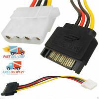 Molex IDE 4-pin weiblicher Netzteiladapter an 15pin SATA männliches Netzkabel DE
