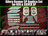 Gilera Runner SP Stickers Decals, RED & SILVER, Set, Kit, Rep, 50 70 125 172 180