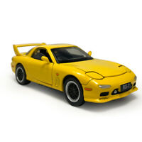 Mazda RX-7 1:32 Scale Model Car Metal Diecast Gift Toy Vehicle Kids Yellow