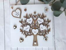 Personalised handmade Family tree wall plaque gift keepsake Sign Christmas P60