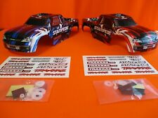New 2 TRAXXAS STAMPEDE BODYS XL-5 VXL 4X4  BRUSHLESS 2WD VELINEON /BLUE / RED