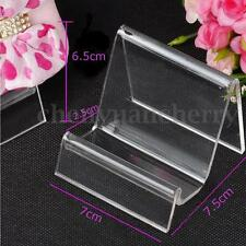 Acrylic Handbag Jewelry Wallet Stand Display Holder Show Craft Rack Clear