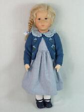 """Käthe Kruse Puppe Alessia """"großes Deutsches Kind"""" 52cm, Zopffrisur, unbespielt"""