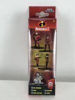 Disney Pixar The Incredibles 2-5 Pack Figure Collector's Set 100% Die-Cast Metal
