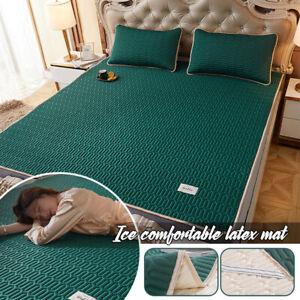 Cooling Bed Mat Ice Silk Latex Soft Mattress Set Bedding Pillowcase Room Decor