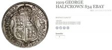"1919 GEORGE V HALF-CROWN (1910-1936) S34 ""Half Crown"""