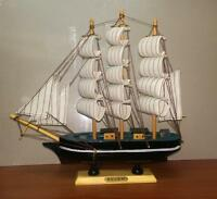 Collectable Merchant Navy Wooden Galleon 30cm Model Ship Boat Nautical Gift Deco