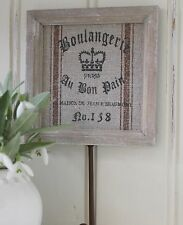 SHABBY CHIC  FRENCH LINEN WHITE WOOD SQUARE COAT CLOTHES TOWEL HOOK CHRISTMAS