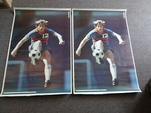"""1974 KYLE ROTE, JR Soccer Star SI Sports Illustrated Poster 38""""x25"""" LOT OF 2"""