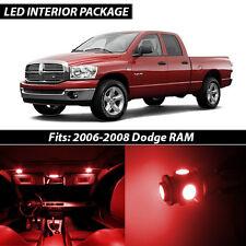 2006-2008 Dodge RAM 1500 2500 3500 Red Interior LED Lights Package Kit