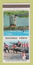 Matchbook Cover - Historic Forts Canada Fort Henry ON 30 Strike