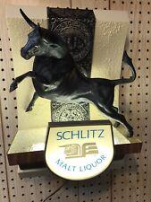 Vintage Schlitz Malt Liquor Raging Bull Lighted Back Bar Beer Sign