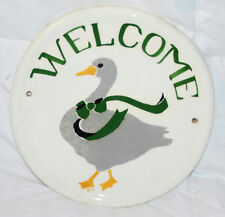 "10"" Welcome Sign With Duck Design Decorative Wall Hanging"