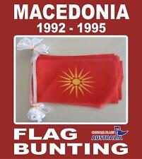 Old Macedonia Flag Bunting 20 Macedonian 1992 - 1995 Polyester Bunting Flags