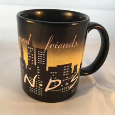 FRIENDS Coffee Black Cup Mug NBC TV Show Good Coffee Good Friends