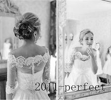 Off Shoulder Lace Half Sleeve Bridal Jackets Bolero Custom Wedding Wraps Shawl