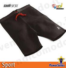 Calzoni sudatorio neoprene foderato nero Schiavi calzoncini pantaloncini fitness