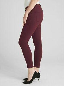 $99 Gap Mid Rise SCULPT True Skinny Jeans, NWT, 29 Regular/Size 8, Vamp Red