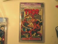 1969 MIGHTY THOR # 166 GRADED BY CGC AS A9.0 RESTORED GRADE,  2ND APP. OF HIM.