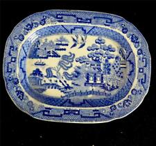 C1820 ROCKINGHAM BRAMELD CHILDS TOY MEAT PLATE WILLOW PATTERN