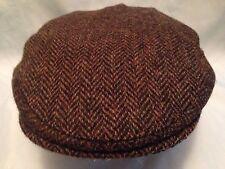 GENTS 100% WOOL HAND WOVEN  HARRIS TWEED FLAT CAP / DRIVING HAT  FROM SCOTLAND