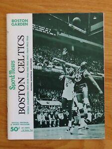 BOSTON CELTICS vs BULLETS November 18 1966 Program signed SAM JONES & DON NELSON