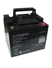 2 x UltraMax 12V 40Ah (AS 38Ah & 45Ah) - Mobilitätshilfe Rollstuhl Batterien