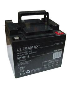 ULTRAMAX NPG40-12 12V 40AH (as 42Ah & 45Ah) EMERGENCY LIGHT LIGHTING GEL BATTERY