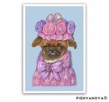 Petit Brabançon Art Print-Lady Fluffy-Griffon Art Dog Prints and Gifts