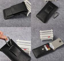 For LG V20 For LG V30 Black Genuine Leather Belt Clip Tradesman Case Cover Pouch