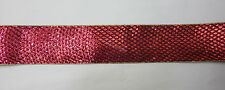 New 10yd Roll Ribbon 50mm Gold Edges Burgundy for Wedding, Birthday, Party