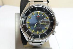 Vintage Orient King Diver 70s Blue Automatic 21 Jewels Men Wristwatch