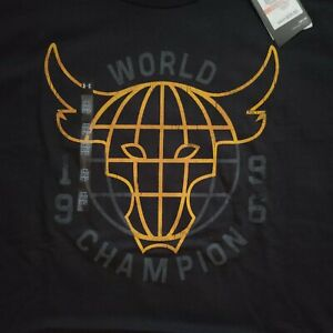 3XL Under Armour Mens x Project Rock 96 World Champion T-Shirt 1326384-001