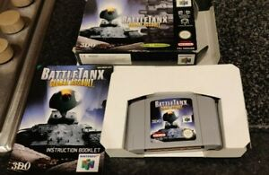 BattleTanx: Global Assault N64 COMPLETE BOXED Exc. Condition Battle Tanx RARE