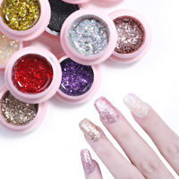 5ml UR SUGAR Gellack Glittzer Sequins Nail Soak Off UV Gel Polish Nagel Kunst