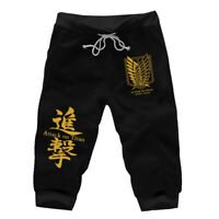 Casual Short Pants Anime Attack on Titan Shorts Sport Jogger Street Wear Hip-hop