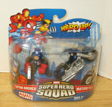 Marvel Super Hero Squad ~ Captain America w/ Motorcycle ~ Bucky ~ NIP VHTF