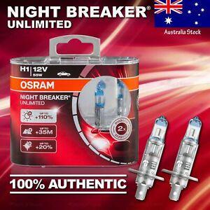 2x H1 448 OSRAM Night Breaker UNLIMITED +110% DuoBox Bulbs Lamps  for HIGH BEAM