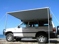 2.5M x 2M PULL OUT AWNING ROOF TOP TENT CAMPER TRAILER 4WD 4X4 CAMPING CAR RACK
