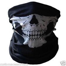 SKULL FACE MASK FOR MOTORCYCLE BIKE BMX SKI MOTORCROSS NECK WARMER BANDANA