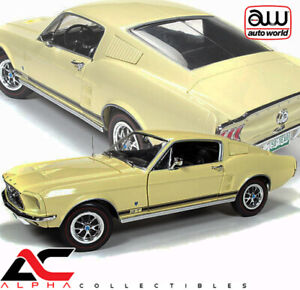 AUTOWORLD AMM1038 1:18 1967 FORD MUSTANG 2+2 GT COUNTRY SPECIAL ASPEN GOLD 50TH