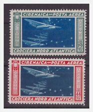 CIRENAICA - 1933 POSTA AREA CROCIERA BALBO SERIE NUOVA **  Gomma brunita