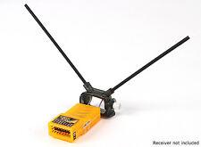 HobbyKing Adjustable Receiver Antenna Mount Dual 45 Deg 2 Pack Orange Rx