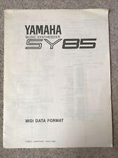Yamaha SY85 Music Synthesizer MIDI Data Format