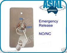 Emergency Door Release Key switch Surface/Flush Mount