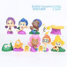 12Pcs/set BUBBLE GUPPIES PVC TOY Cake Topper GIL Molly NONNY Vinyl Action Figure